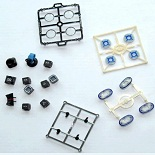 the plastic electronics moulds of these button plastic parts made by Exceed mold